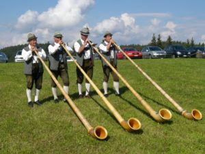 Un gruppo di Alphornbläser