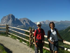 Bergketten im Dolomitenmassiv