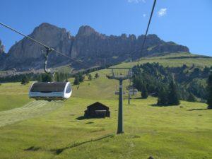 Fahrt zur Paolina Hütte