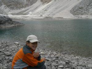Rast beim Antermoia See