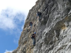 Kletterer Beim Piz boe 3152 m